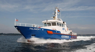 "Operation for the coastal patrol vessel ""Falshöft""."